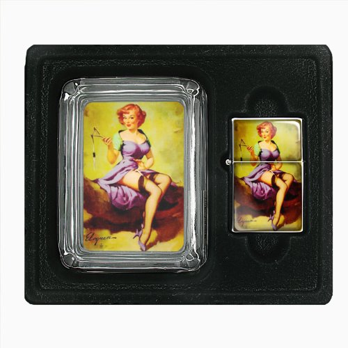 Pin Up Redhead Girl With Slingshot Jumbo Size Huge Big Giant 6.5 Inch Electronic Lighter D-048
