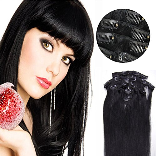 Hair Extensions Clip in Remy Brazilian H