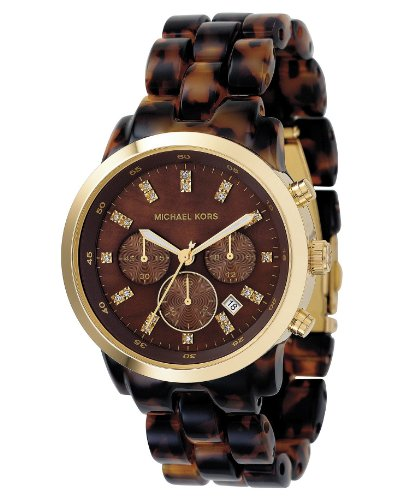 Michael Kors Mk5216 Ladies Watch with Tortoise Acrylic Bracelet and Brown Dial