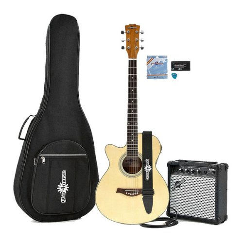 Single Cutaway Left Hand Acoustic Guitar + 15W Amp Pack