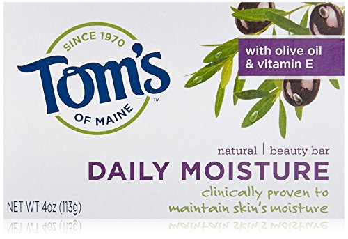 Tom's of Maine Moisturizing Bar Daily, 4-Ounce Bar, Pack of 6 Daily Bath