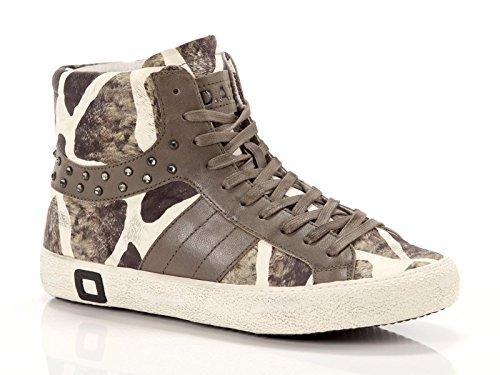Date, Donna, Cooper Animalier, Pelle, Sneakers Alte, Marrone, 39 EU