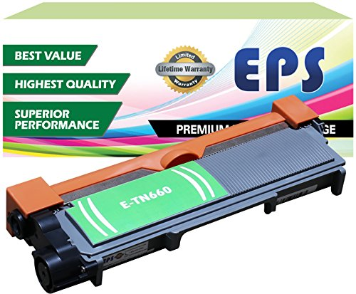 EPS Replacement Brother TN660 TN630 Toner Cartridge, High Yield (2,600 Yield) - Black (Eps Replacement Toner Cartridge compare prices)