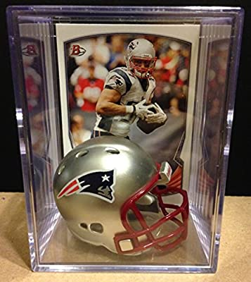 New England Patriots NFL Helmet Shadowbox w/ Rob Gronkowski card