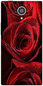 The Racoon Grip red rose hard plastic printed back case / cover for Gionee Elite E7