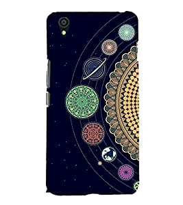 Solar System 3D Hard Polycarbonate Designer Back Case Cover for OnePlus X :: One Plus X :: One+X