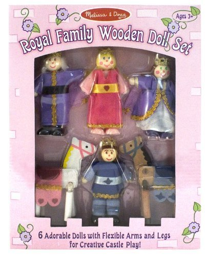Melissa & Doug - Royal Family Wooden Doll Set