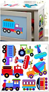 Olive Kids Trains, Planes and Trucks Peel and Stick Wall Decal Cut Outs by Olive Kids