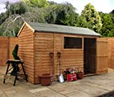 Overlap Reverse Apex Shed with Single Door and Pad Bolt Size: 217 cm H x 314 cm W x 195 cm D