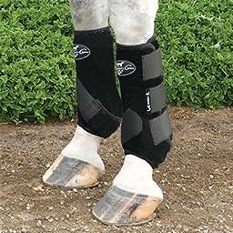 Professionals Choice Equine Sports Medicine Boot Value Pack, Set of 4 (Large, Black)