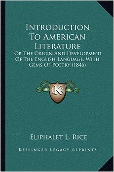 LITERATURE OF THE LITERATURE LANGUAGE AMERICAN