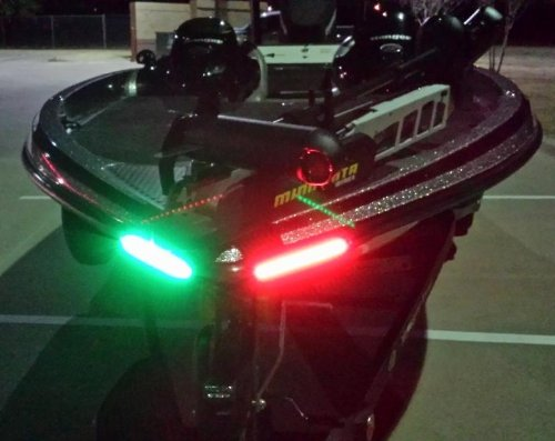 Boat Bow LED Lighting RED & Green Kit - Black