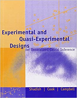 experimental and quasi experimental designs essay Using the article by fitzpatrick and meulemans (2011), prepare a written analysis that addresses the following:determine the general strengths and weaknesses of quasi.