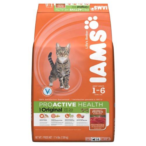 Iams Proactive Health Adult Original With Tuna Premium Cat Nutrition, 17.4 Pound
