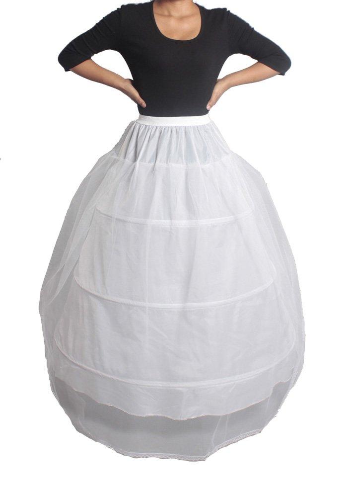 XYX Frauen-Hochzeits PetticoatUnderskirt Schlupf Krinoline 3 BAND 1 Layer WEISS XS-M jetzt bestellen