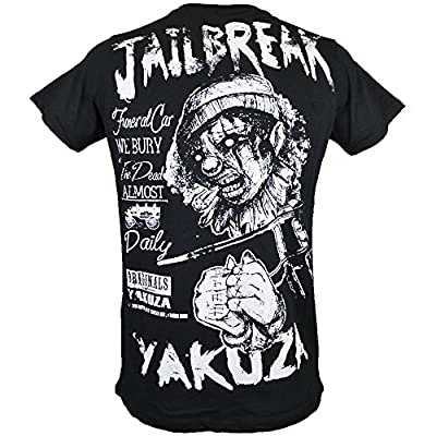Yakuza T-Shirt Herren Round Neck TSB 618 Jailbreak The Dead Daily Schwarz