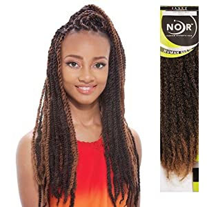 Crochet Braids Marley Hair Janet Collection : Hair Braids Janet Collection Noir Afro Marley Braid (M27/613) : Beauty ...