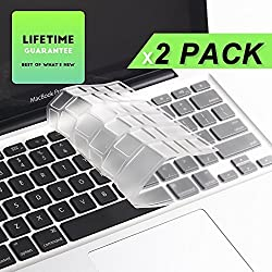 LENTION Premium Ultra Thin Clear TPU Keyboard Protector Cover Skin for MacBook Pro 13 15 17 Inch and MacBook Air 13 Inch and iMac Wireless Keyboard