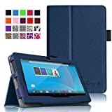 "Fintie Chromo 7"" Tablet Folio Case Cover - Premium Leather With Stylus Holder for Chromo Inc 7 Inch Android Tablet - Navy"