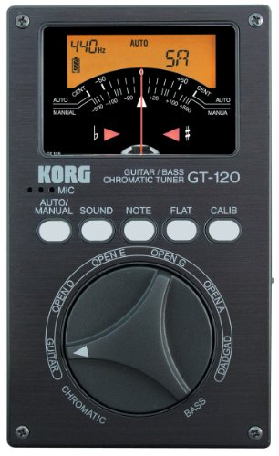 Korg Gt-120 Needle Vu Chromatic Guitar And Bass Tuner