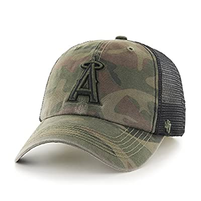 MLB Los Angeles Angels Beaufort Closer Stretch Fit Hat, One Size, Sandalwood