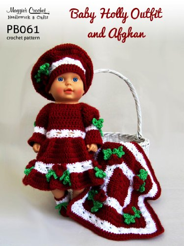 Crochet Pattern Holly Christmas Doll PB061-R