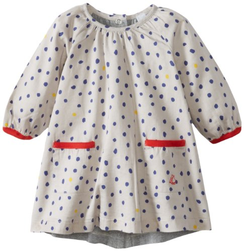 Best Petit Bateau Baby-Girls Infant Causette Long Sleeve Dress with Pockets, Print, 24 Months  Review