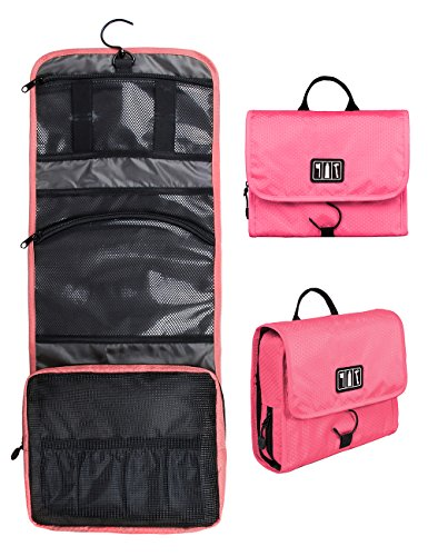 BAGSMART-Hanging-Travel-Toiletry-Bag-Cosmetic-Carryon-Case-Folding-Makeup-Organizer-with-Breathable-Mesh-Pockets