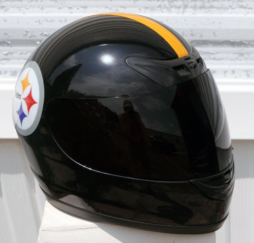 Pittsburgh Steelers Full Face Motorcycle Helmet - LARGE - DOT Approved - NFL Football - Black at Amazon.com