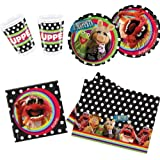 The Muppets Party Pack for 10, 10 Cups, 10 Plates, 20 Napkins & 1 Tablecover