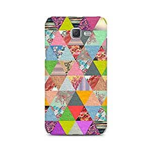 Ebby Colorful Triangles Premium Printed Case For Samsung J7 2016 Version