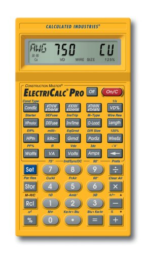 Calculated Industries 5065 ElectriCalc Pro Electrical Code Calculator