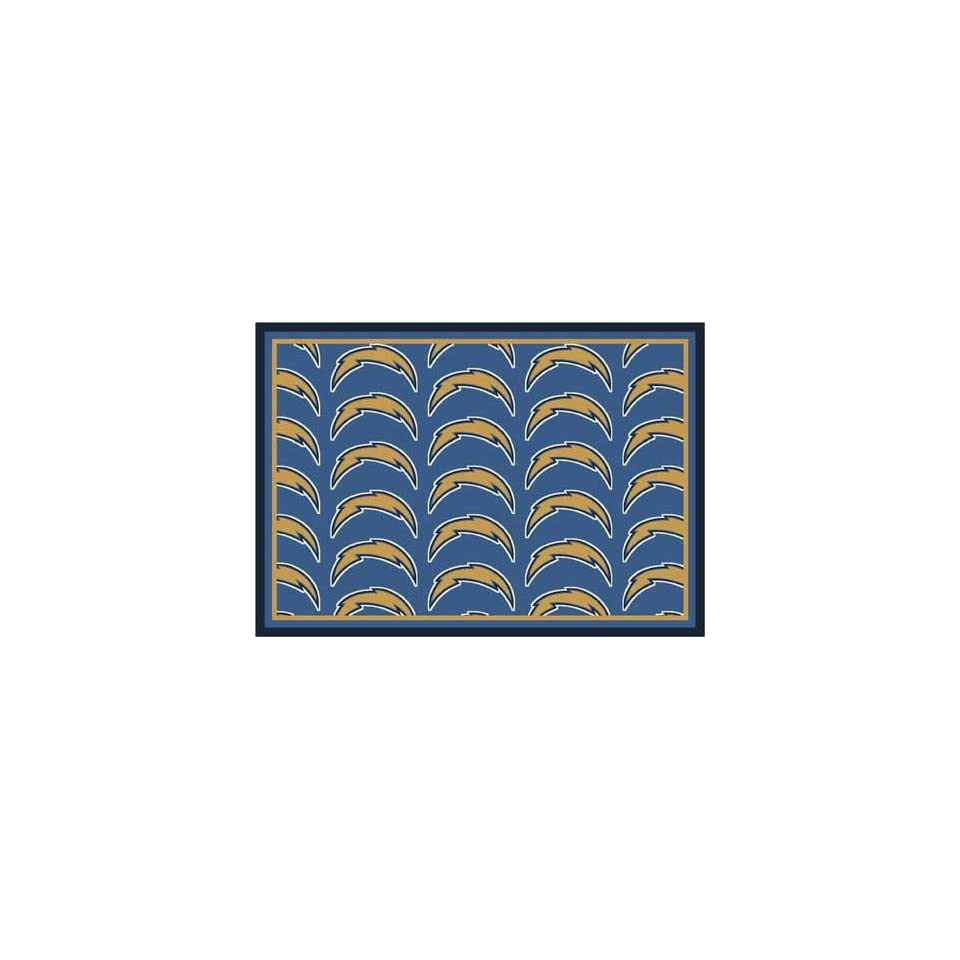 NFL Team Repeat Rug   San Diego Chargers (Blue Bkgrd)