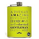 Designer Hip Flask 9 Oz - Nutcase - Free Funnel Along - Gentlemans Party Flask