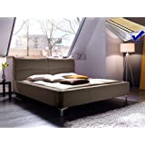 Polsterbett Cloude Bett 160x200 cm + Lattenrost + Matratze cappuccino Doppelbett Designerbett Schlafzimmer