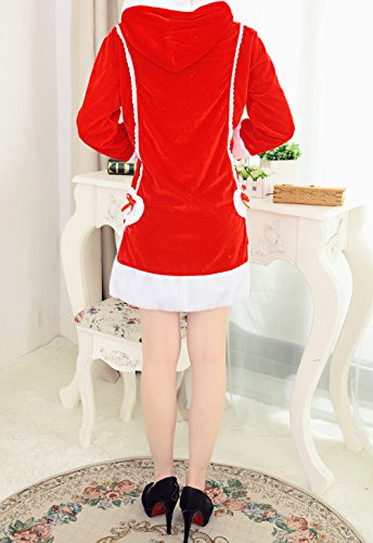 YFFaye Women's Long-sleeved Stage Party Cosplay Christmas Set