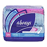 Thin Dailies, Unscented, Wrapped 120 Count (Pack of 2)