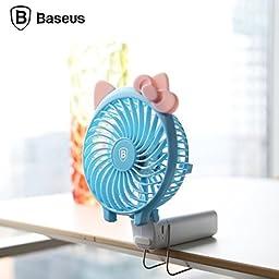 Baseus Alice Mini USB Fan with 2000mah Rechargeable 18650 Battery (BLUE)