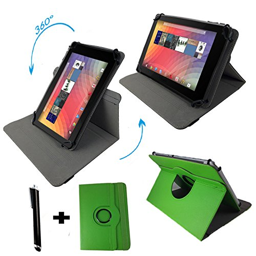 "Huawei MediaPad 10 FHD 3G 25,4 cm / 10.1 "" Tablet Pc Tasche mit 360° grad Drehfunktion - 10 Zoll Grün 360"
