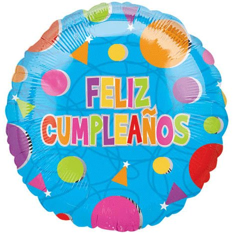 18 Inch Feliz Cumpleanos Confetti Value Balloons