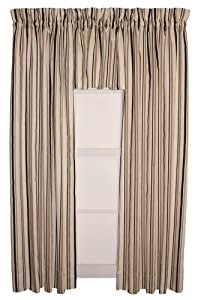 Susan Value Pack 3 Piece Tailored Panels & Valance Curtain Set 80-Inch-by-72-Inch, Black - 1 1/2 inch Rod Pocket