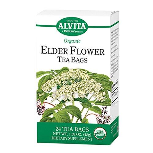 Alvita Organic Elder Flower Tea Bags 24 Count Home Garden