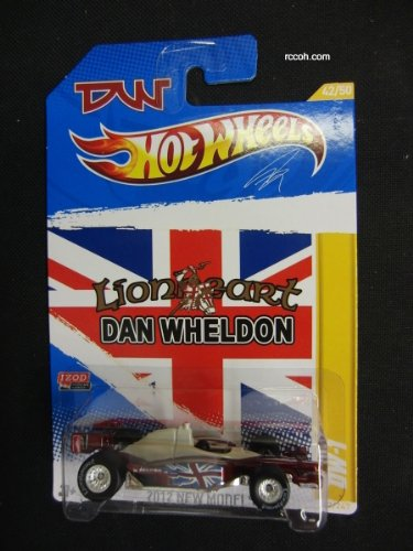 HOT WHEELS 2012 EDITION NEW MODELS SPECIAL COMMEMORATIVE EDITION IZOD LIONHEART DAN WHELDON CHASE REAL RIDER TIRES DW-1 DIE-CAST - 1
