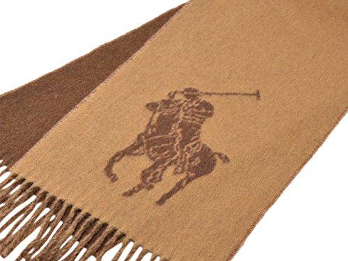 (ポロ ラルフローレン) Polo Ralph Lauren マフラー Big Pony Jacquard Scarf メンズ レディース ウール ナイロン 6f0351 (Camel) [並行輸入品]
