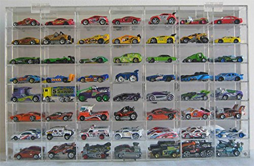 Hot Wheels Display Case 56 compartment for 1/64 scale Nascar Diecase Pixar Car Redline (AHW64-56) (Hot Wheels Display Case 1 64 compare prices)