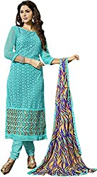 Zohra Vol 2 Women's Georgette Unstitched Dress Material(54011, Sky Blue)