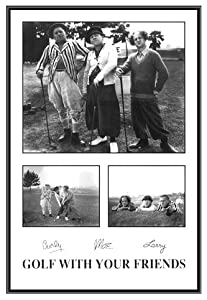 Amazon Com Three Stooges Golf With Your Friends Framed