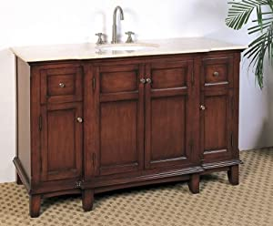 Legion Furniture LF45 53-Inch Single Sink Chest Bathroom Vanity