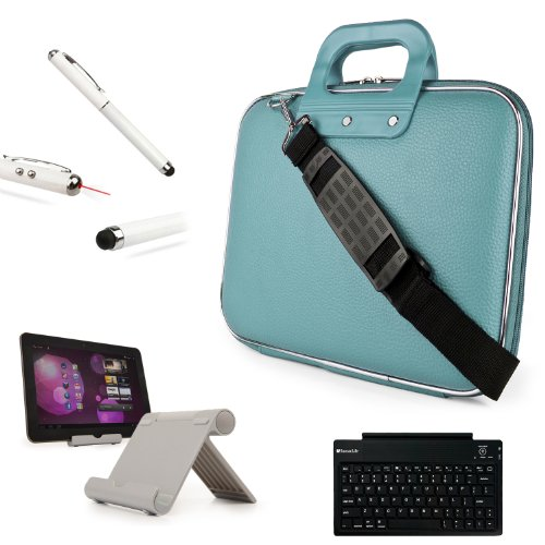 Vangoddy Cady Case For Samsung Galaxy Tab Pro 10.1 / Galaxy Tab S 10.5 / Galaxy Tab 4 10.1 / Note 10.1 + Bluetooth Keyboard + Foldable Stand + Stylus