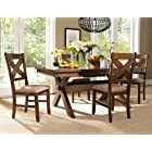 5 PC Karven Solid Wood Dining Set , Table w/ 4 Chairs